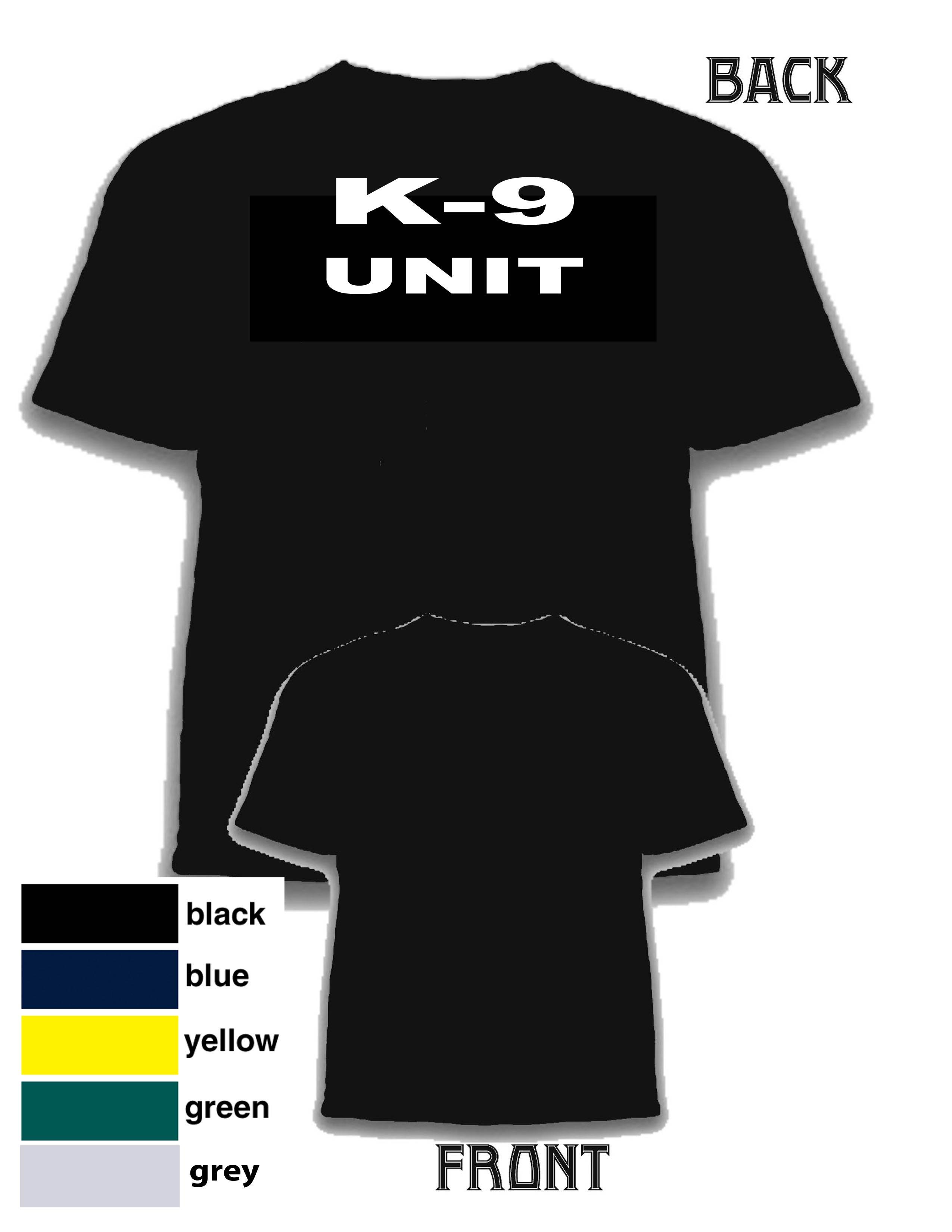 K9 unit shirt for On site t shirt printing
